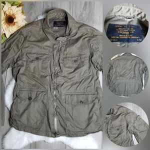 J Crew Military Jacket Olive Green Utility